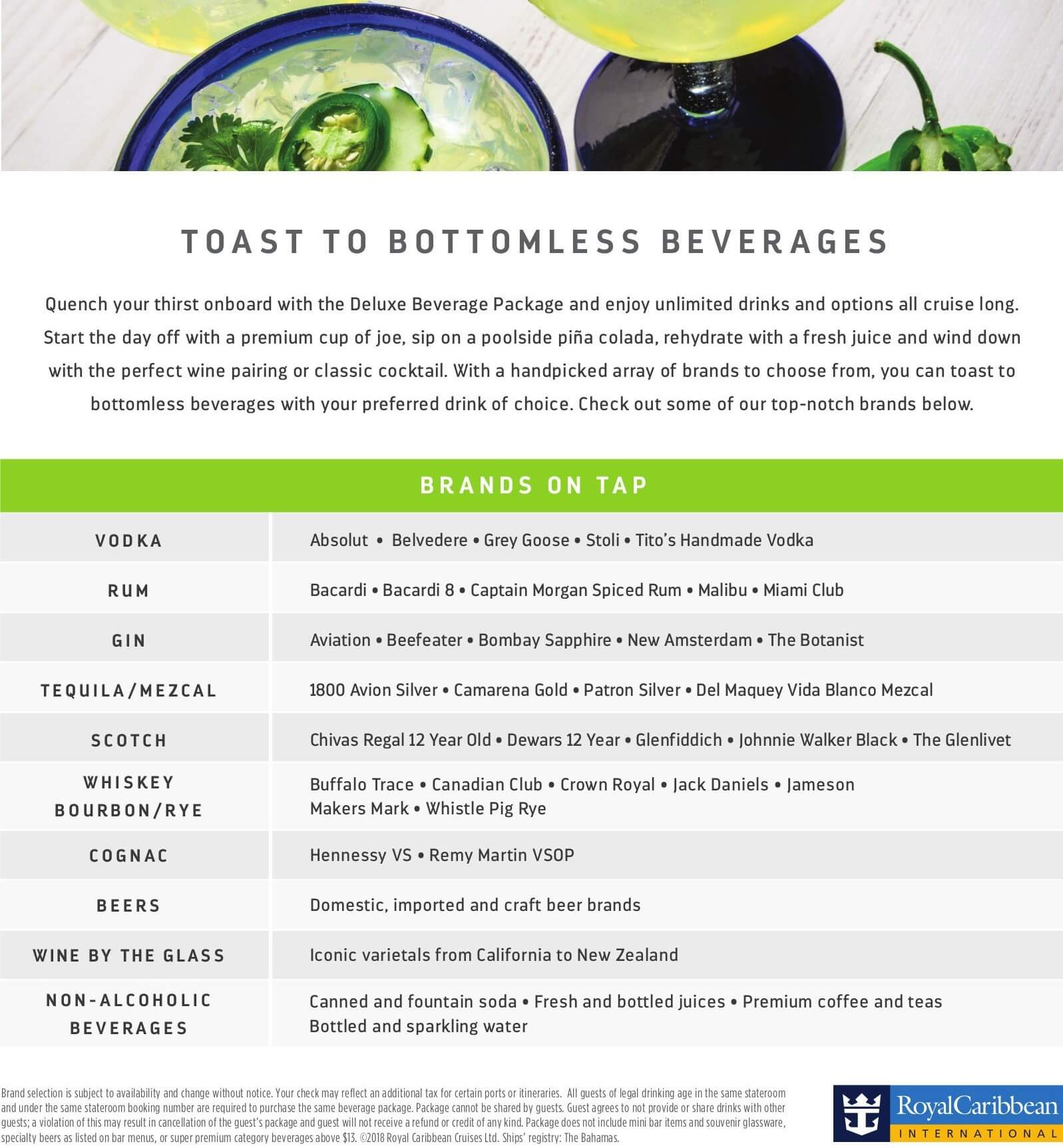 Royal Caribbean's Deluxe Beverage Package