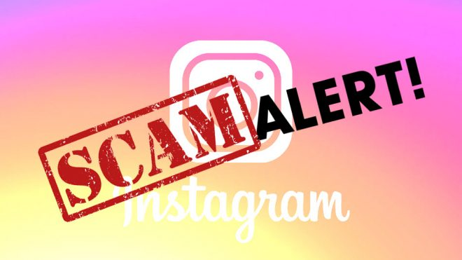 Scam Alert! Fake Instagram Account
